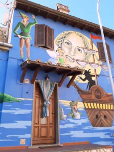 Murales di Peter Pan a Sant'Angelo, paese delle fiabe